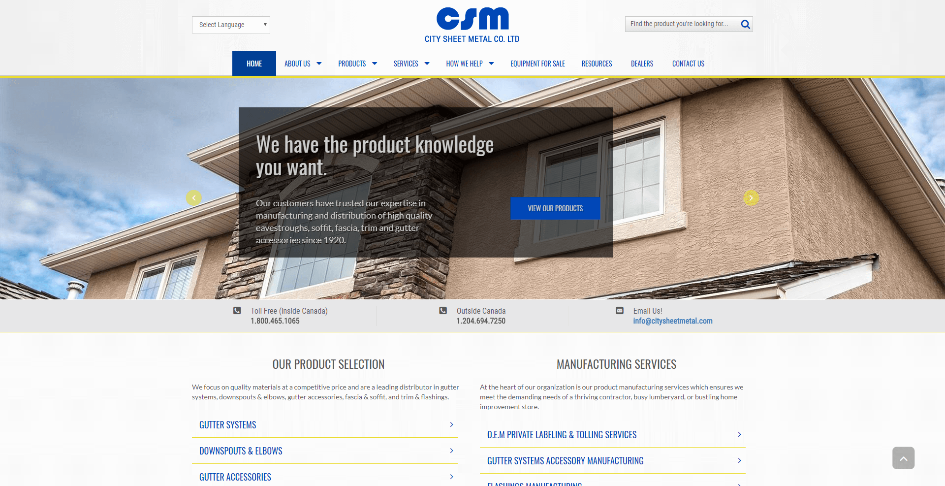 Services in North America | City Sheet Metal