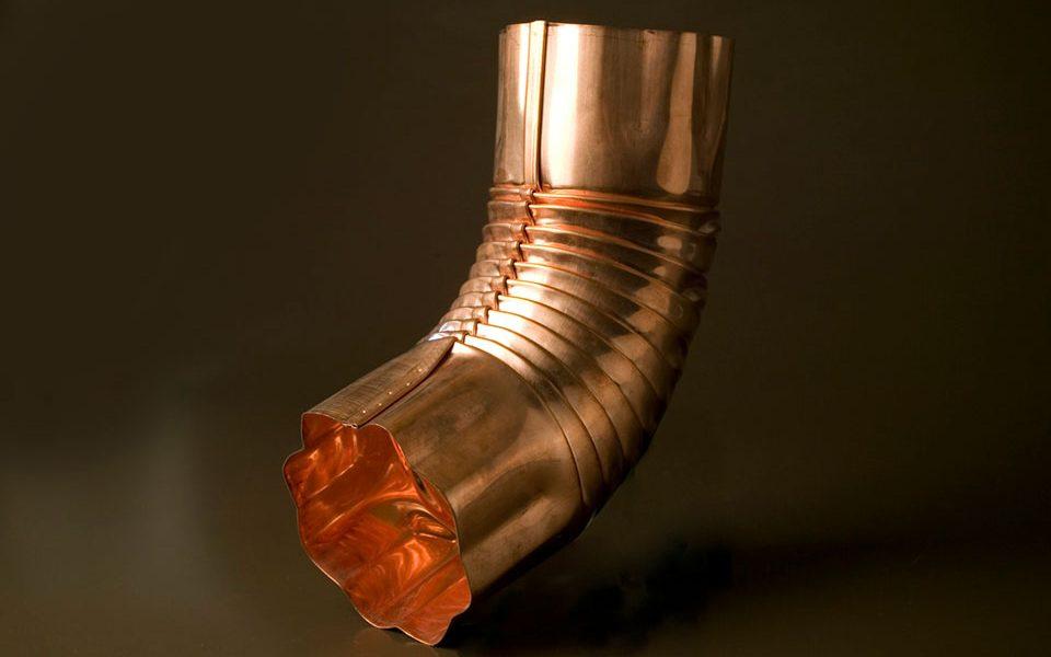 Copper Elbow Round Corrugated (C416)